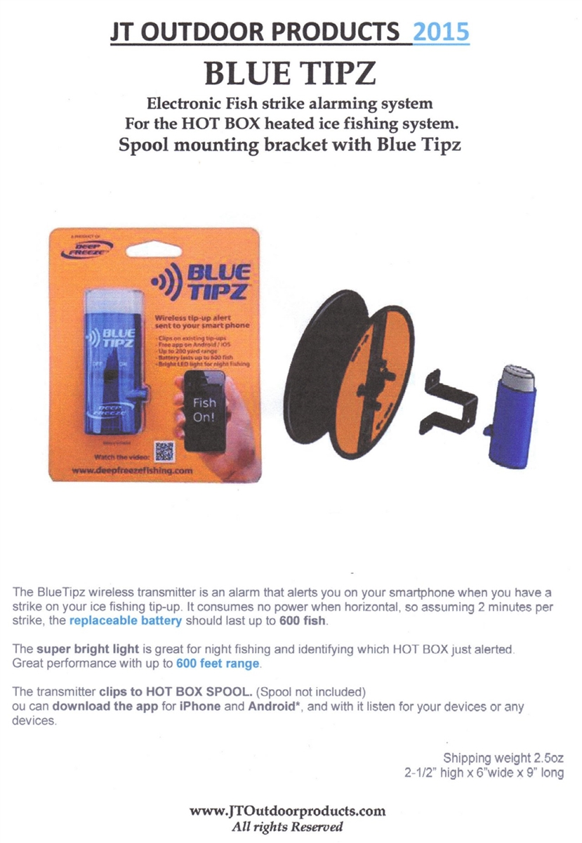 Blue Tipz With Bracket for HOT BOX - JT Outdoor Products