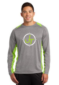 Green Long Sleeve with Person & Logo